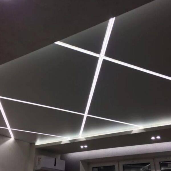 Как сделать парящий натяжной потолок с подсветкой своими руками. особенности парящих профилей