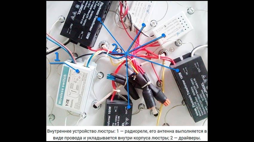 Ремонт светодиодной люстры с пультом управления – самэлектрик.ру