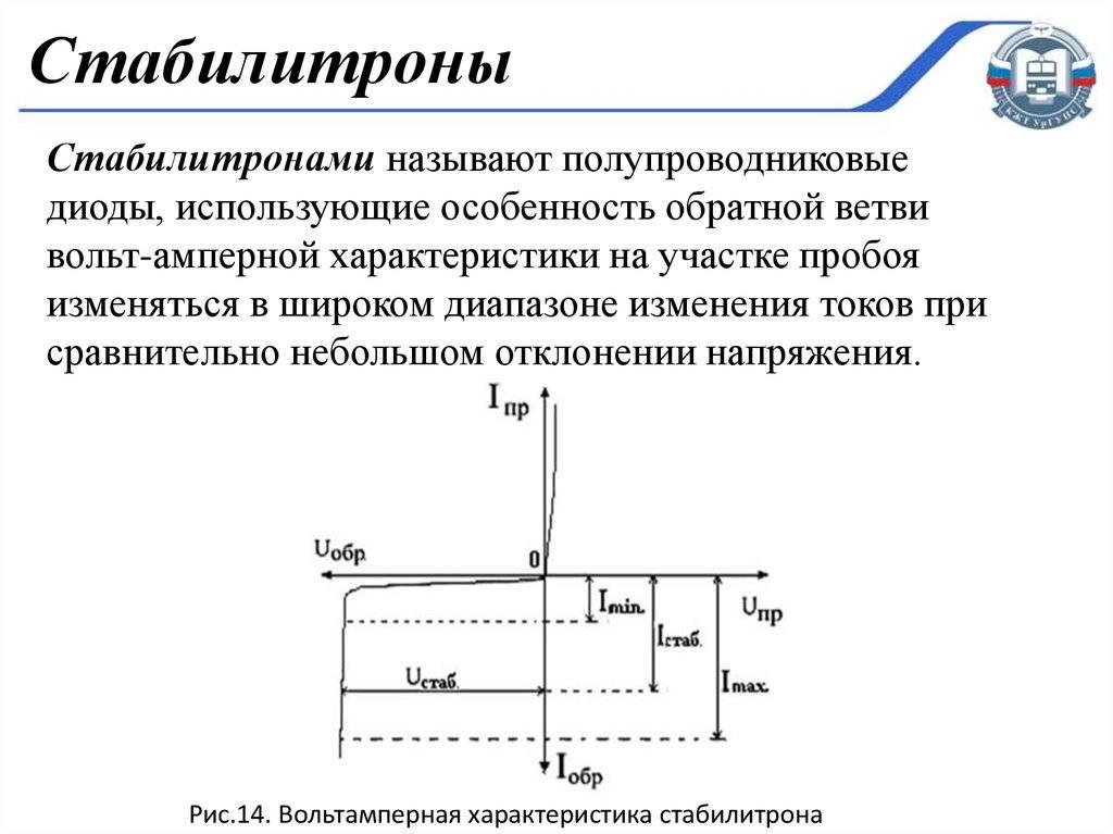 Стабилитрон или диод зенера - подробное описание