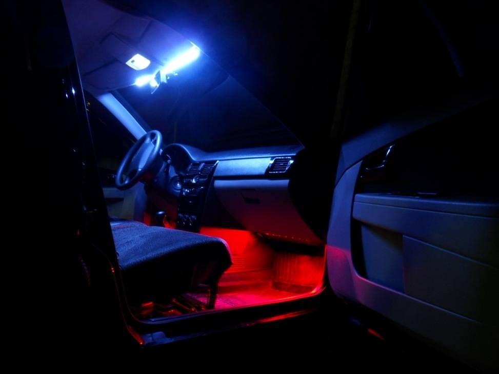 Как подключить светодиодную ленту в машине – виды и способы монтажа
