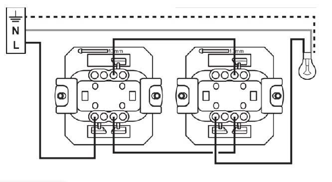 Подключение проходного выключателя Legrand: одноклавишный и двухклавишный вариант