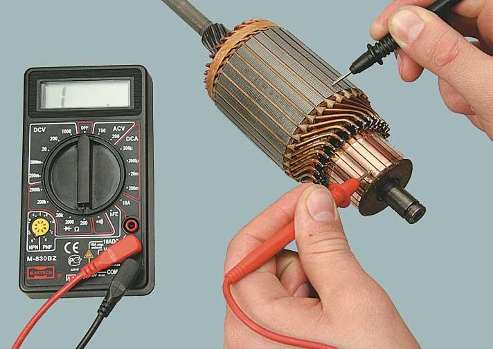 Как прозвонить статор болгарки, как проверить мультиметром, тестером или без приборов обмотку на межвитковое замыкание, на исправность в домашних условиях