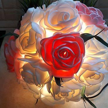 Как сделать светильник в виде розы: поэтапная сборка