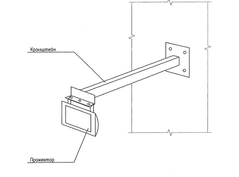 Какие бывают кронштейны и крепления для прожекторов и как сделать своими руками?