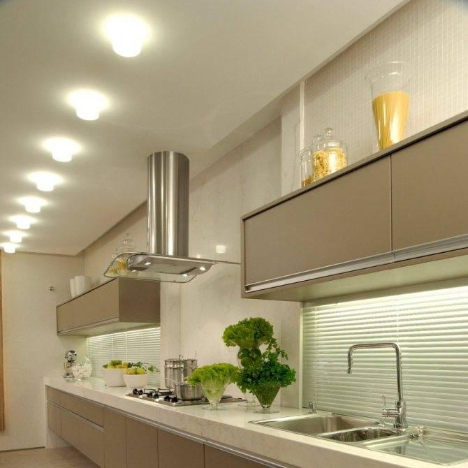 Точечные светильники в дизайне кухни: достоинства и недостатки, варианты точечных светильников, как правильно выбрать