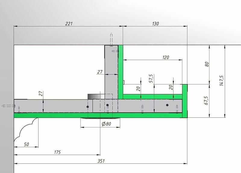 Каркас для двухуровневого потолка из гипсокартона