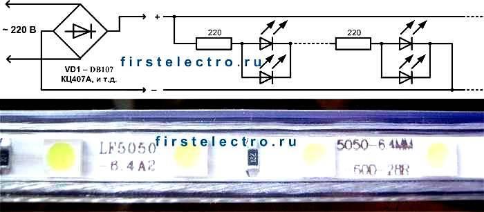 Как работает светодиодная лента: какие бывают типы, размеры и способы подключения