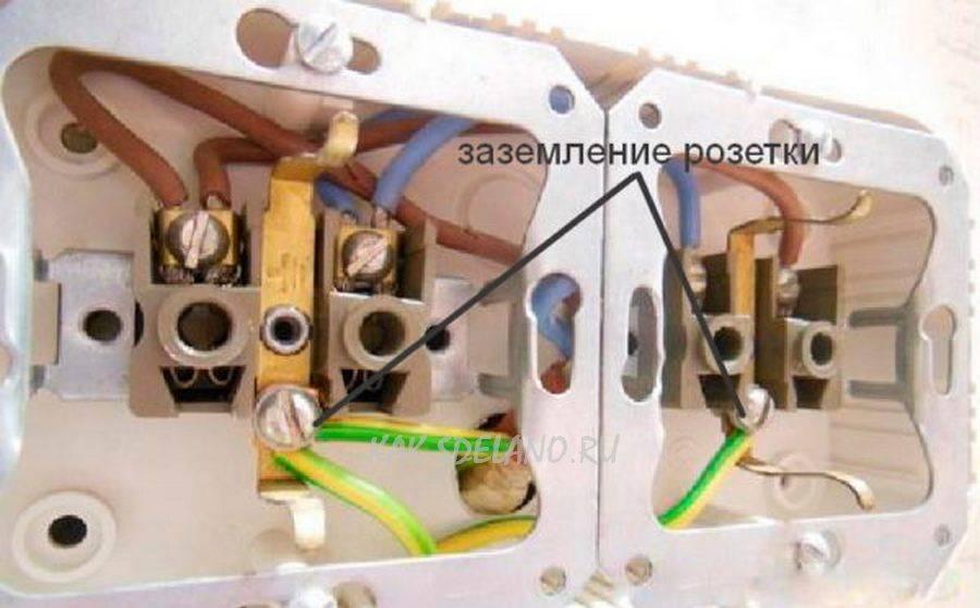 Как подключить розетку с заземлением: пошаговая инструкция по подключению проводки