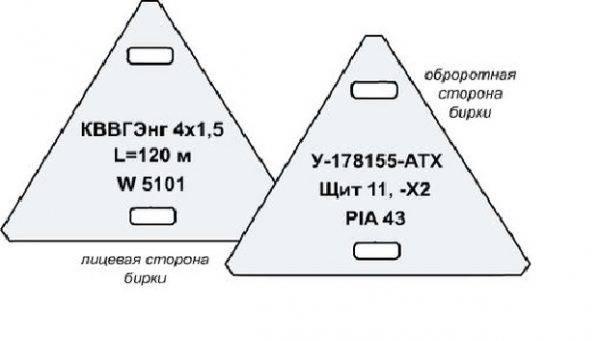 Маркировка кабеля бирками согласно пуэ