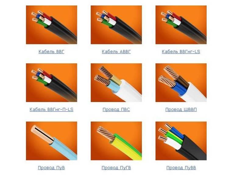 Виды проводов: классификация и маркировка, специальные и нестандартные