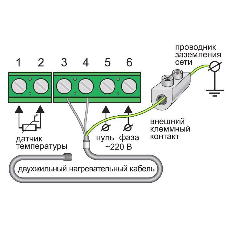 Подключение электрического тёплого пола к терморегулятору