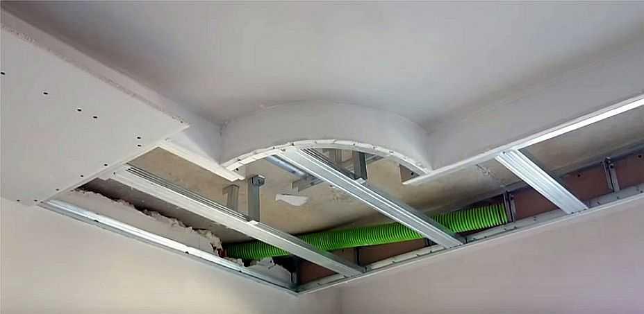 Потолок из гипсокартона с подсветкой своими руками-обучение гипсокартонным работам