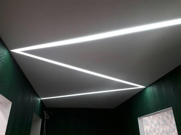 Освещение натяжного потолка: варианты подсветки (200+ фото дизайна)