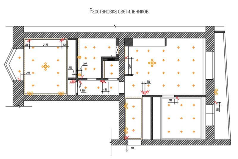 Правила размещения светильников на потолке: 130 фото примеров правильного расположения различных видов светильников