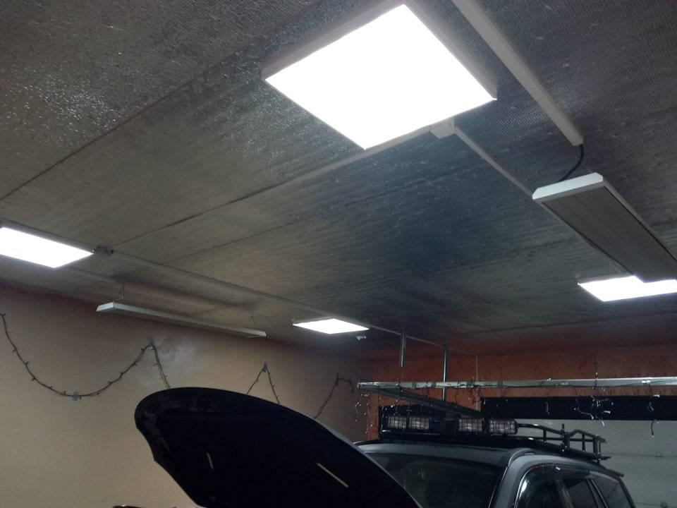 Выбор светодиодных светильников для гаража
