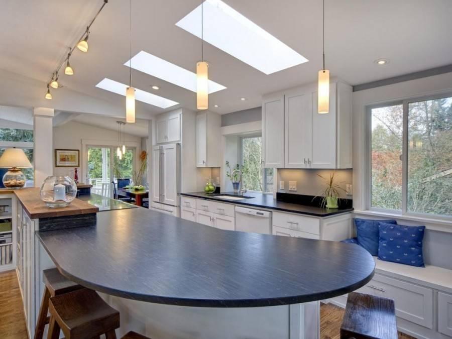 Освещение на кухне с натяжным потолком: 50+ фото удачных примеров
