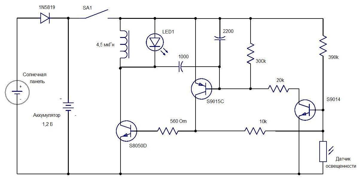Электрические схемы фонариков. ремонт фонариков своими руками