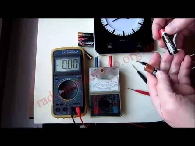 Как прозвонить батарейку мультиметром - морской флот