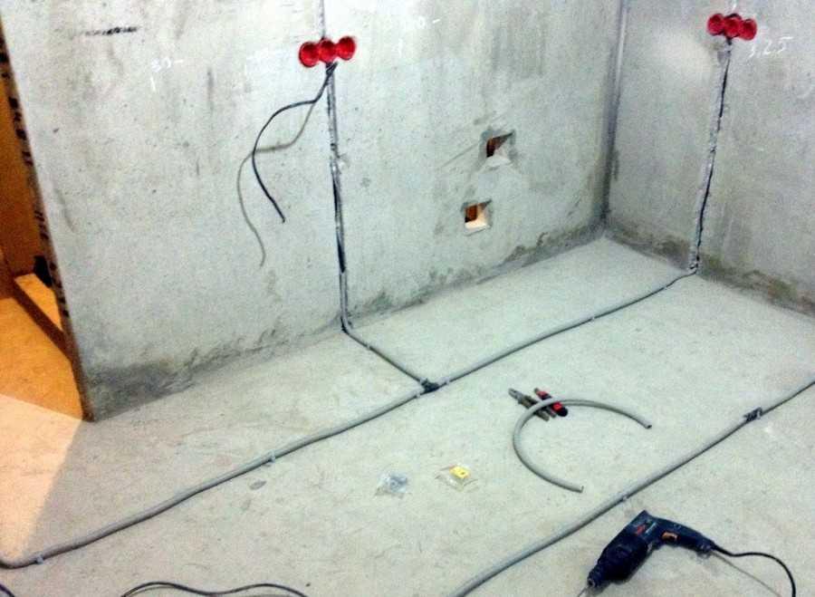 Прокладка кабеля в полу своими руками