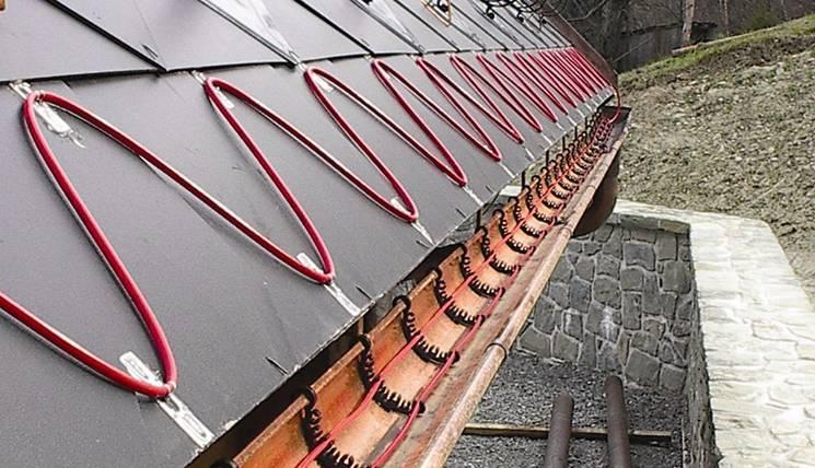 Схема подключения греющего кабеля для водостоков