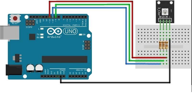 Как подключить rgb светодиод к arduino