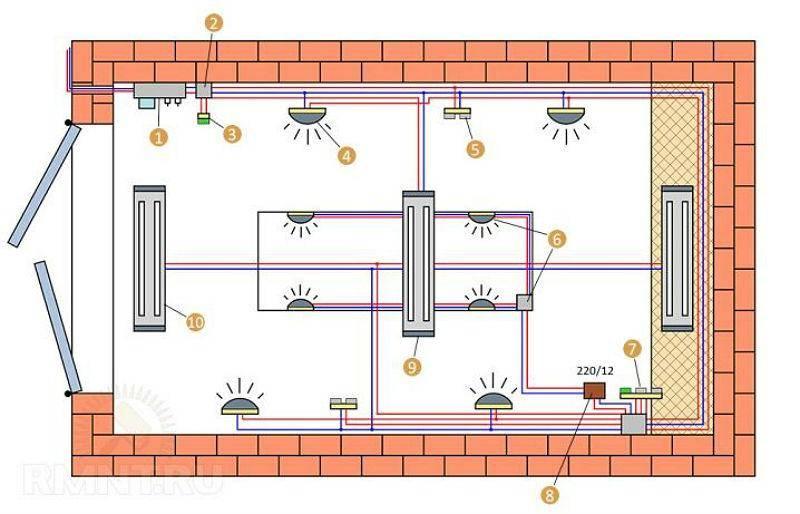 Как сделать электропроводку в гараже своими руками (видео, схема)