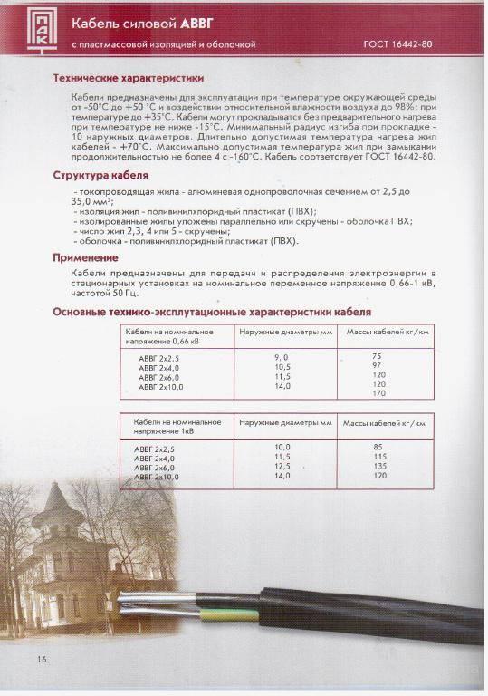Силовой аввг-кабель: технические характеристики и типы :: syl.ru