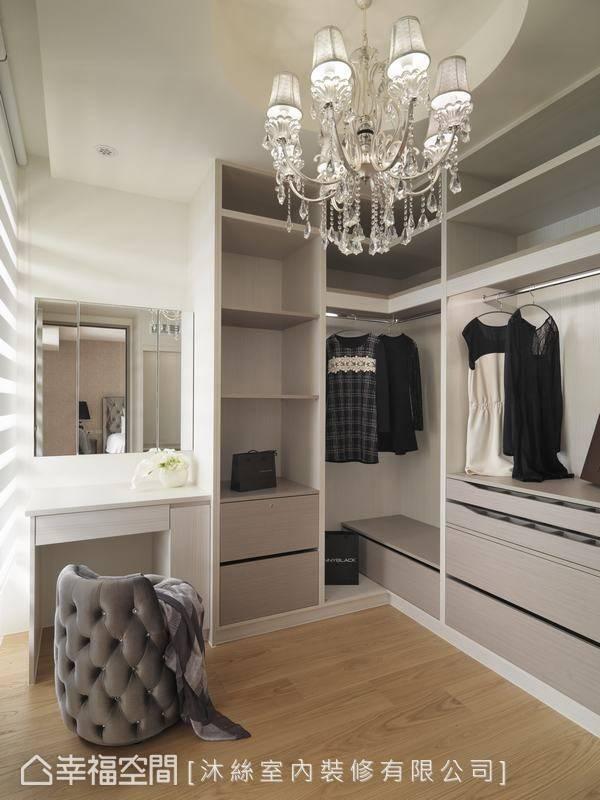 Обустройство освещения в гардеробной