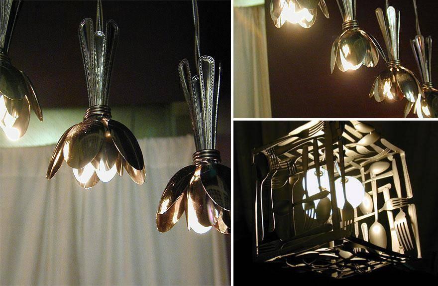 Настольный светильник своими руками из подручных материалов фото