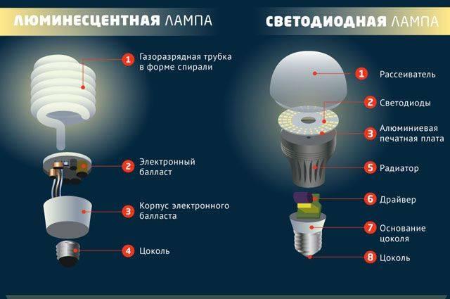 Как устроена и работает энергосберегающая лампа?