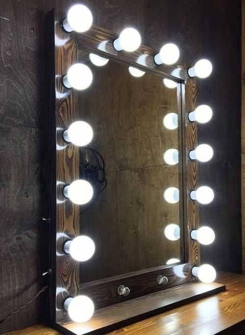 Зеркало с лампочками, особенности, мастер-класс по изготовлению