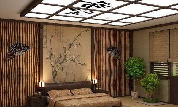Потолок в японском стиле (42 фото): конструкции, монтаж по традиционной японской технологии, на основе подвесных систем «армстронг» и натяжных покрытий