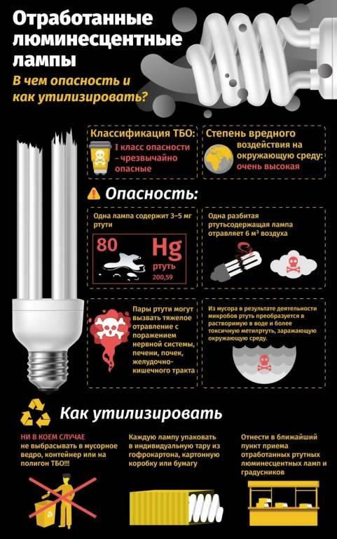 Когда разбилась энергосберегающая лампа, что делать: 4 важных пункта