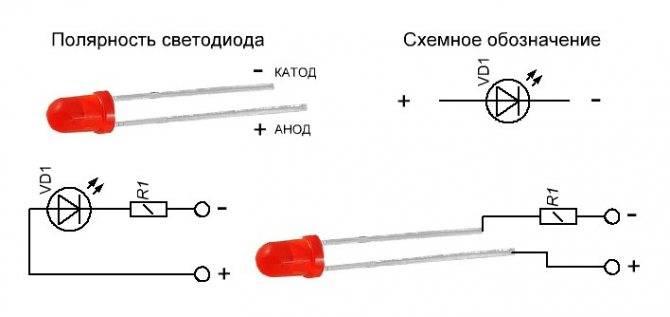 Как определить полярность светодиодов: по маркировке, внешнему виду и мультиметром