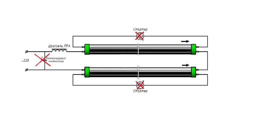 Как заменить линейные люминесцентные лампы в светильниках светодиодными