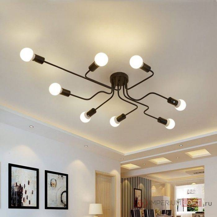 Люстры и светильники для низких потолков: выбираем правильное освещение