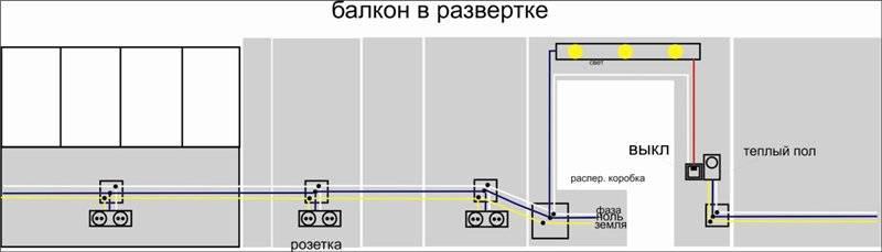Как провести электричество на балкон своими руками: сделать проводку на лоджию, свет, схема проводки, разводка электрики, электромонтаж, правила