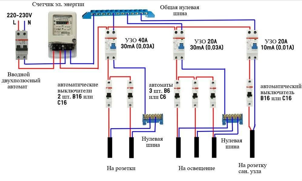 Как подключить дифавтомат в однофазной сети - схема и порядок подключения