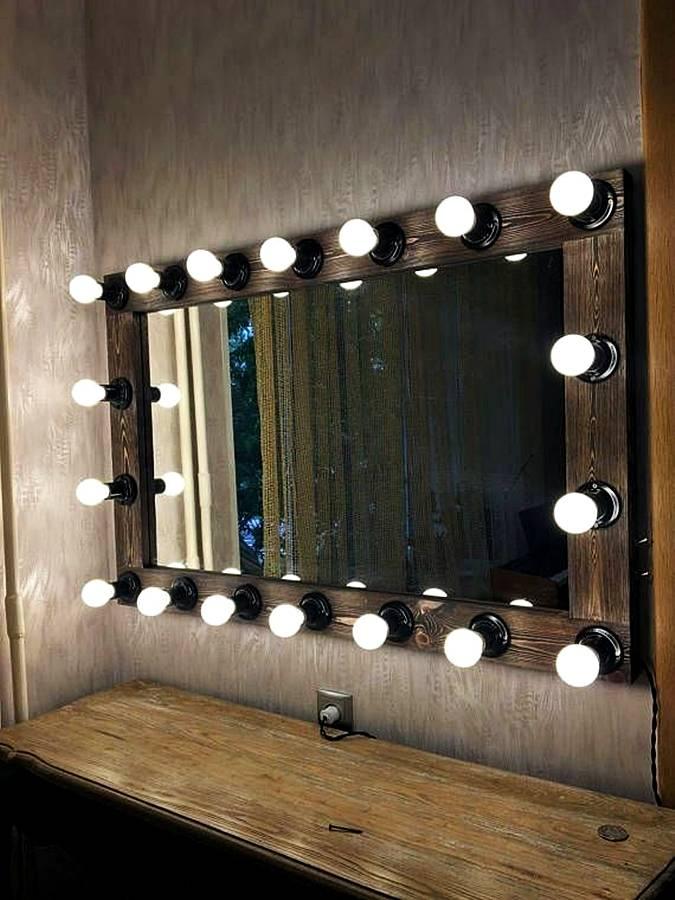 Зеркало с подсветкой своими руками - мастер-класс создания зеркала для визажа