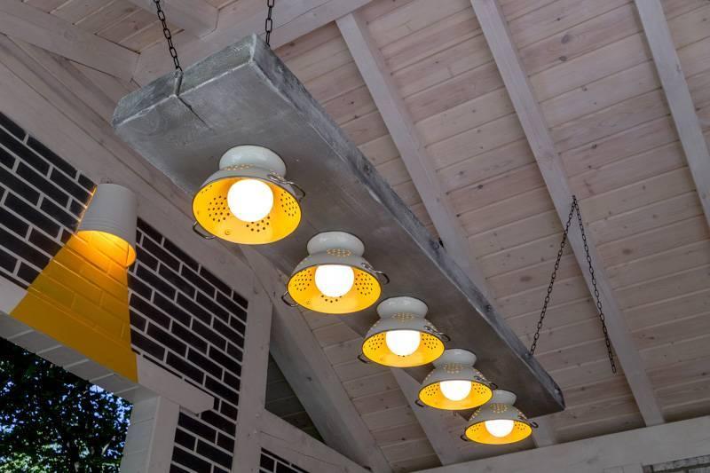 Освещение для веранды и террасы: варианты и правила обустройства, выбор светильников