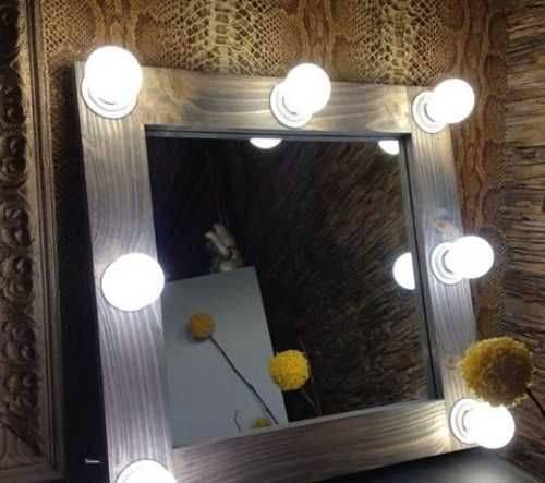 Как сделать зеркало со светодиодной подсветкой для макияжа своими руками
