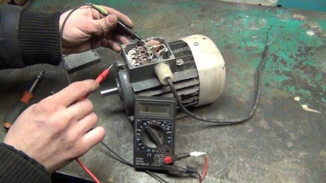 Как проверить электродвигатель мультиметром: проверка ротора и статора на межвитковое замыкание, прозвонка асинхронного и трехфазного двигателя