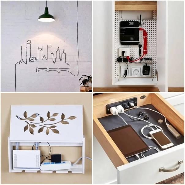 Как спрятать провода в квартире - маскируем кабели хитрыми способами