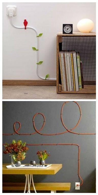 Как спрятать провода на стене, обзор технических способов и креативных идей - 18 фото