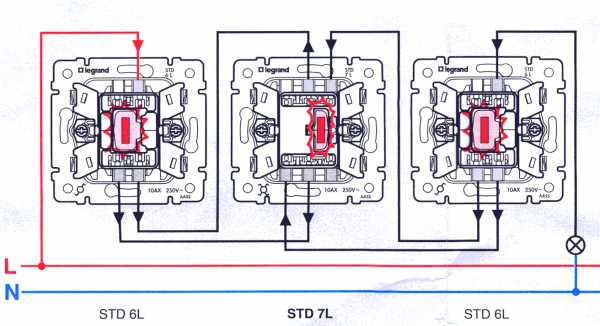 Проходной выключатель legrand - схема подключения, нюансы монтажа, а также его конструкционные особенности