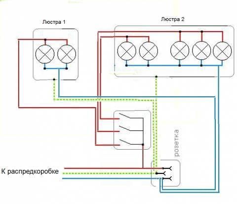 Как правильно подключить тройной выключатель. схемы и инструкции