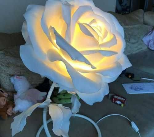 Светильник роза своими руками — урок по созданию красивого светильника из изолона. описание техники с фото примерами