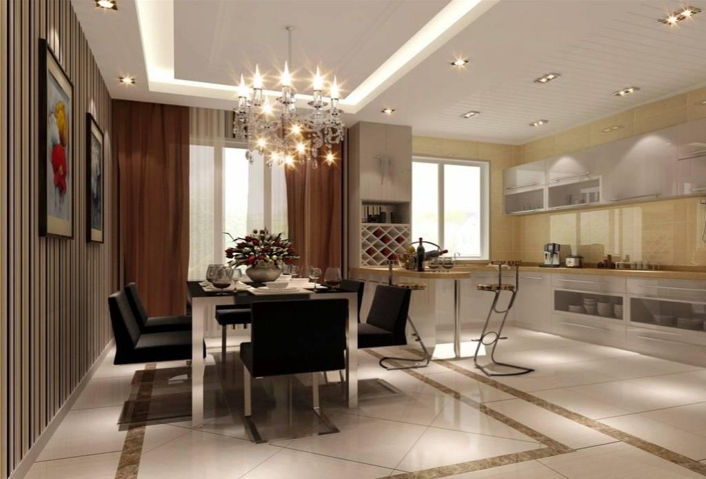 Особенности дизайна кухни-гостиной в частном доме