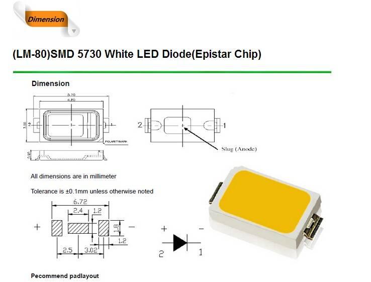 Светодиоды 5730 smd: параметры, характеристики и схема подключения