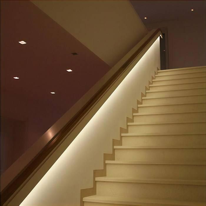 Подсветка лестницы: какую выбрать, как сделать самостоятельно